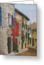 Small French Village Greeting Card