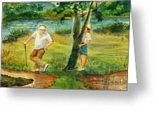 Small Golf Hazard Greeting Card