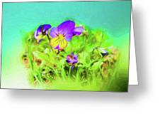 Small Group Of Violets Greeting Card