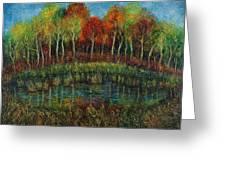 Small Lake. Greeting Card
