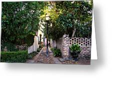 Small Lane In Charleston Greeting Card