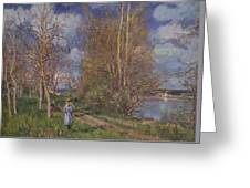 Small Meadows In Spring Greeting Card