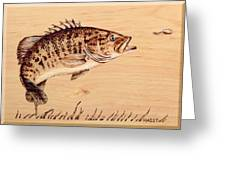 Small Mouth Bass Greeting Card