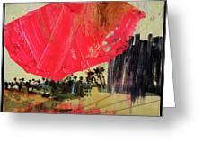 Small Pike Umbrella Greeting Card
