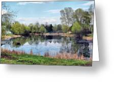 Small Pond In Tomilino Greeting Card