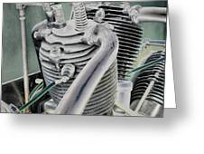 Small Radial Engine Greeting Card by Dennis Dame