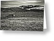 Small Ranch Colorado Foothills Greeting Card
