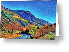 Small River Valley Greeting Card