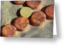 Small Round Stones Greeting Card