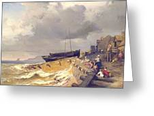 Small Seaport Near St. Malo In The Bretagne Greeting Card
