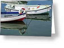 Small Skiffs - Lyme Regis Harbour Greeting Card