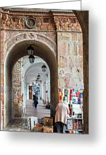 Small Stall In Cuenca Ecuador Greeting Card