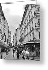 Small Street In Paris Greeting Card