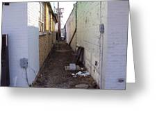 Small Town Alley Greeting Card