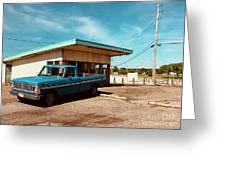 Small Town Blues Greeting Card
