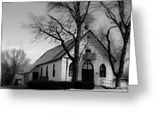 Small Town Church Greeting Card