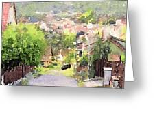 Small Town Scape Greeting Card