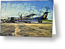 Small Turboprop Plane Greeting Card