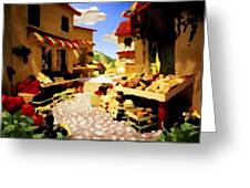 small urban market on Capri island Greeting Card