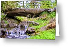 Small Waterfall 1 Greeting Card