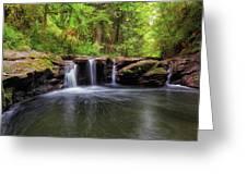 Small Waterfall At Rock Creek Greeting Card