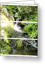 Small Waterfall Smoky Mountains Triptych Greeting Card