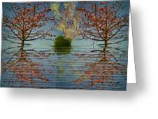 Small  Wood Lake.face To Face Greeting Card