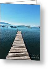 Small Wood Pier Greeting Card