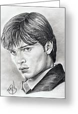 Smallville  Tom Welling Greeting Card