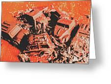 Smashem Crashem Cars Greeting Card