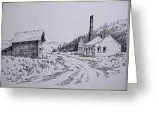 Smelter Ruins Glendale Ghost Town Montana Greeting Card