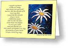 Smile - Poetry In Art Greeting Card
