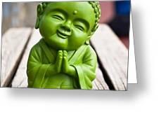 Smiley Buddha Greeting Card