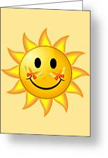 Smiley Face Sun Greeting Card