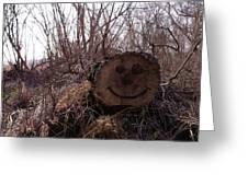 Smiley Log Greeting Card