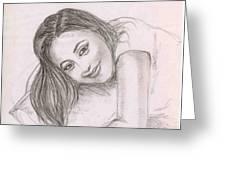 Smiling Girl Greeting Card