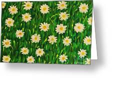 Smiling Margaret's Flowers Greeting Card