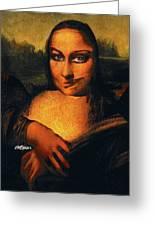Smirking Mona Greeting Card
