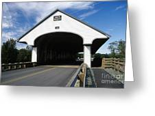 Smith Covered Bridge - Plymouth New Hampshire Usa Greeting Card