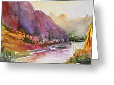 Smith Rock Fall Morning 1 Greeting Card