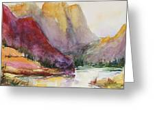 Smith Rock Fall Morning 2 Greeting Card