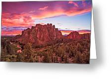 Smith Rock Sunset Greeting Card