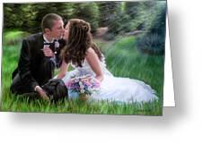 Smith Wedding Portrait Greeting Card