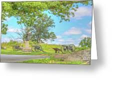 Smiths Battery Devils Den Gettysburg Greeting Card