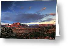 Smithsonian View Of Zion Greeting Card