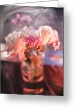 Smoke And Flowers Greeting Card