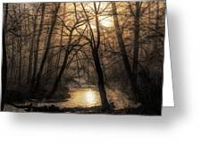 Smoke By The Water Greeting Card