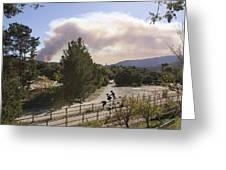 Smoke From Ventura Wildfire, View Greeting Card
