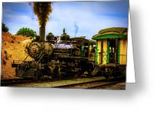 Smoke Stack Steam Train Greeting Card