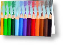 Smoked Colors Greeting Card